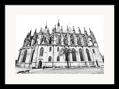 St Barbara Digital Art Framed Prints
