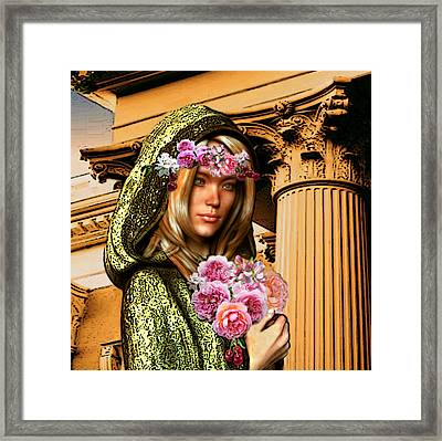 Framed Print featuring the painting Saint Dorothy Of Caesarea by Suzanne Silvir
