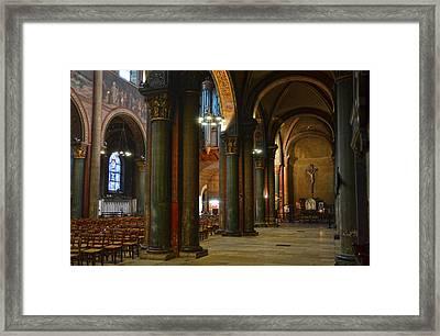 Saint Germain Des Pres - Paris Framed Print by RicardMN Photography