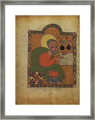 Saint Luke Unknown Ethiopia Framed Print