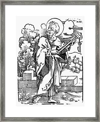 Saint Peter (c Framed Print by Granger