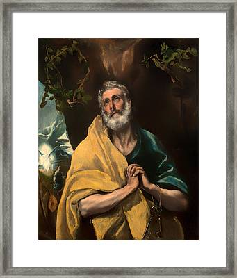 Saint Peter In Tears Framed Print by Mountain Dreams