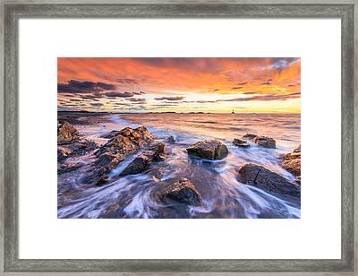 Sakonnet Sunset Framed Print