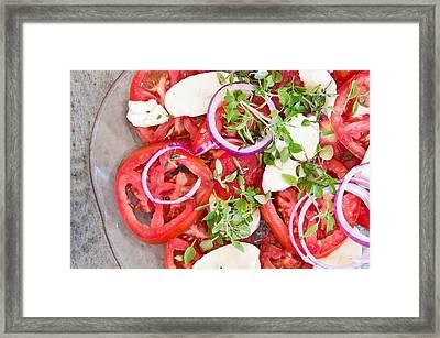 Salad Framed Print