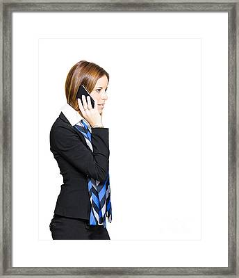 Sales And Marketing Business Woman Framed Print