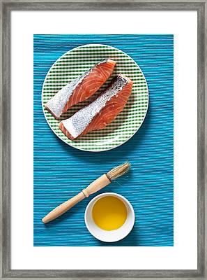 Salmon Fillets Framed Print by Tom Gowanlock