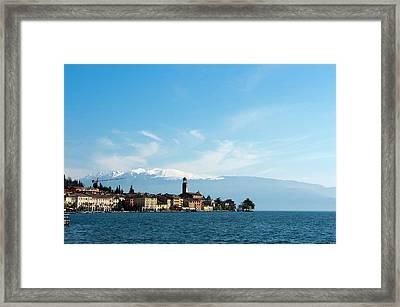 Salo, Lago Di Garda, Lombardia, Italy Framed Print