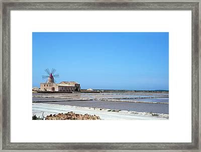 Salt Pan Windmill Framed Print