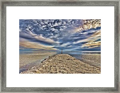 Salt Pier Salton Sea Framed Print