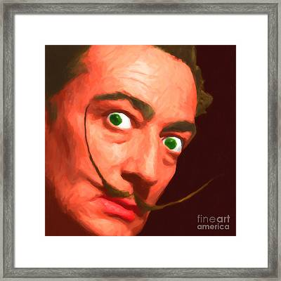 Salvador Dali 20141213 V1 Framed Print by Wingsdomain Art and Photography