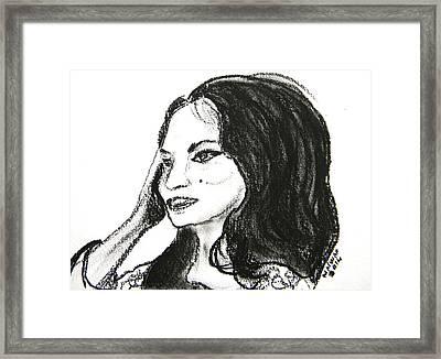 Samira Tawfik Framed Print by Marwan George Khoury