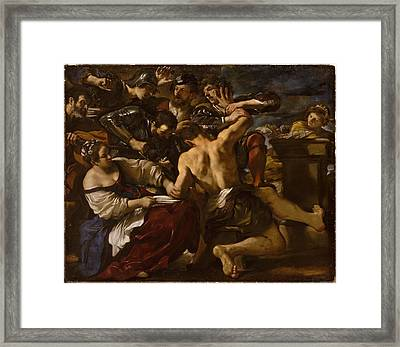 Samson Captured By The Philistines Framed Print