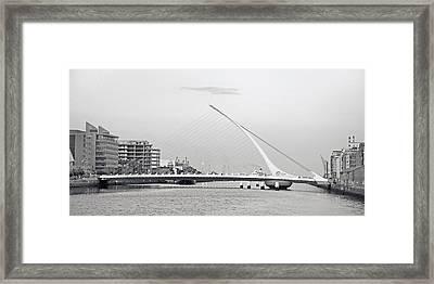Samuel Beckett Bridge Dublin Ireland Framed Print