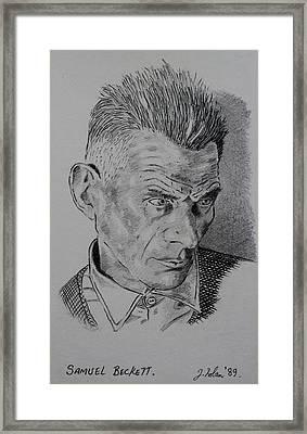 Samuel Beckett Framed Print by John  Nolan