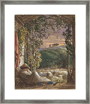 Samuel Palmer British, 1805 - 1881, The Sleeping Shepherd Framed Print by Quint Lox