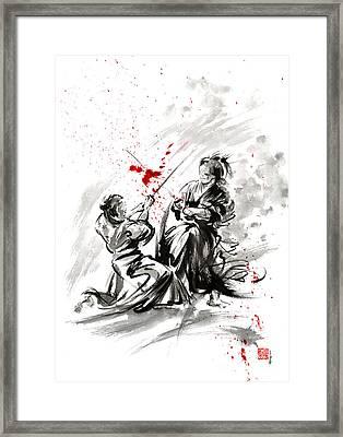Samurai Bushido Code Framed Print by Mariusz Szmerdt