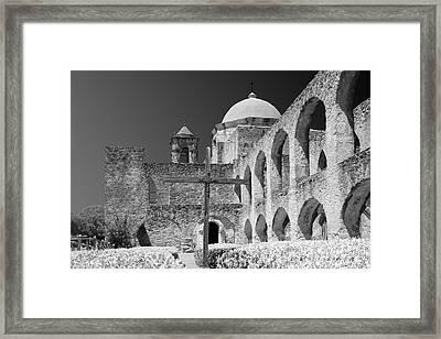 San Antonio - Mission San Jose Framed Print by Christine Till