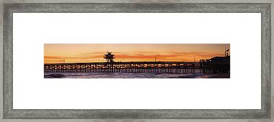 San Clemente Municipal Pier In Sunset Framed Print by Richard Cummins