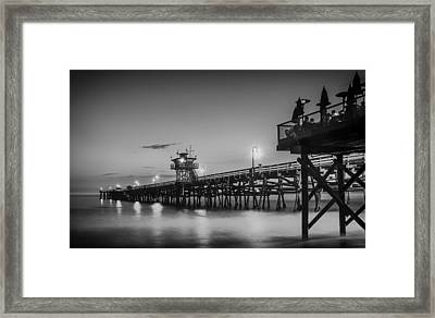 San Clemente Pier At Sunset Framed Print