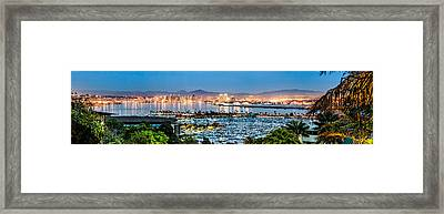 San Diego Bay Panoramic Framed Print by Josh Whalen