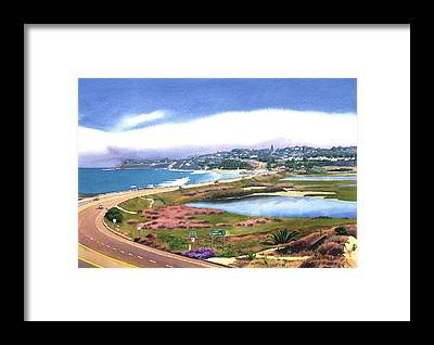 Pacific Coast Highway Framed Prints