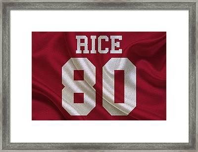 San Francisco 49ers Jerry Rice Framed Print
