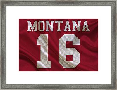 San Francisco 49ers Joe Montana Framed Print by Joe Hamilton