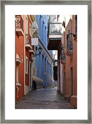 San Francisco Chapel Alley Framed Print