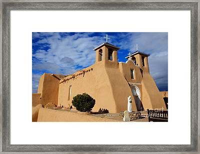 San Francisco De Asis Taos New Mexico 3 Framed Print by Bob Christopher
