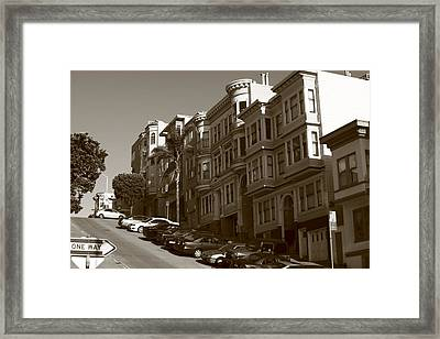 San Francisco Hills  Framed Print