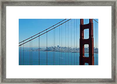 San Francisco Through Golden Gate Bridge Framed Print