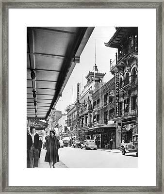 San Francisco's Chinatown Framed Print by Underwood Archives