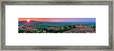 San Gimignano Sunset Panorama Framed Print by JR Photography
