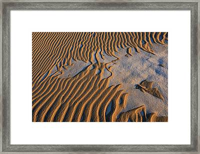 Sand And Snow Pattern Framed Print by Dean Pennala