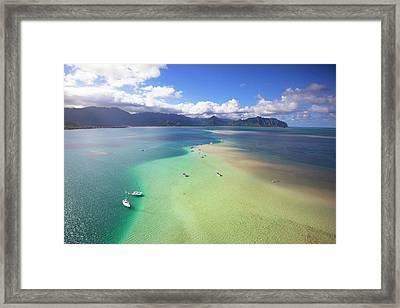 Sand Bar, Kaneohe Bay, Oahu, Hawaii Framed Print