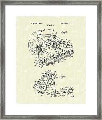 Sand Trap Rake 1971 Patent Art Framed Print by Prior Art Design
