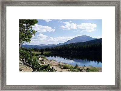 Sandbeach Lake Framed Print