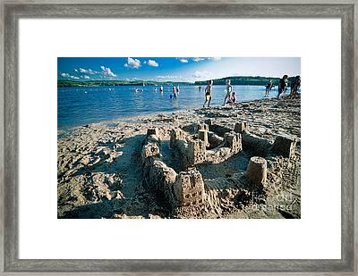 Sandcastle On The Beach Framed Print by Amy Cicconi