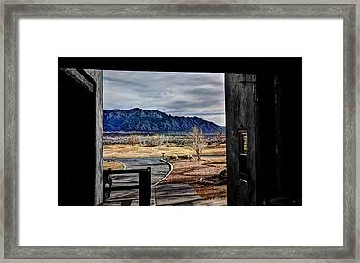 Sandia Mountains Framed Print