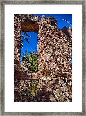 Sandstone Arch Jerome Black And White Framed Print by Scott Campbell