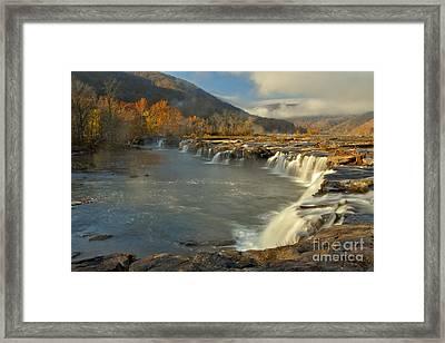 Sandstone Falls Framed Print by Adam Jewell