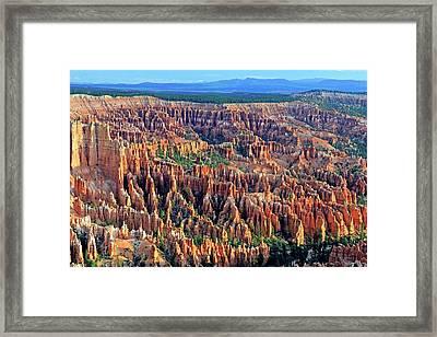 Sandstone Hoodoos Framed Print by Bildagentur-online/mcphoto-schulz