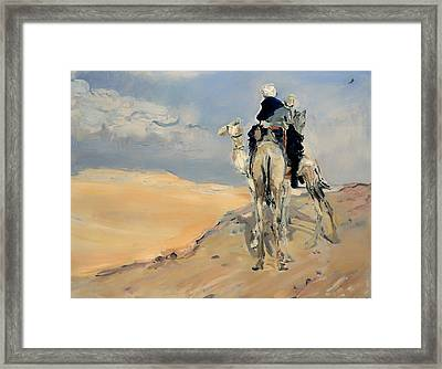 Sandstorm In The Libyan Desert Framed Print by Mountain Dreams