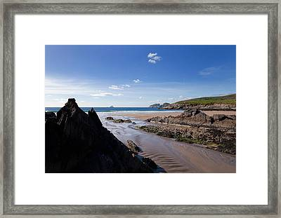 Sandy Beach Near Killonecaha, Ring Framed Print by Panoramic Images