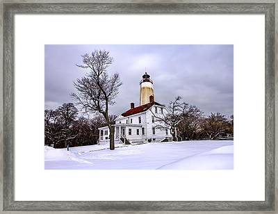 Sandy Hook Lighthouse Framed Print by Geraldine Scull
