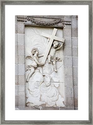 Santa Barbara Church Sculpture Framed Print