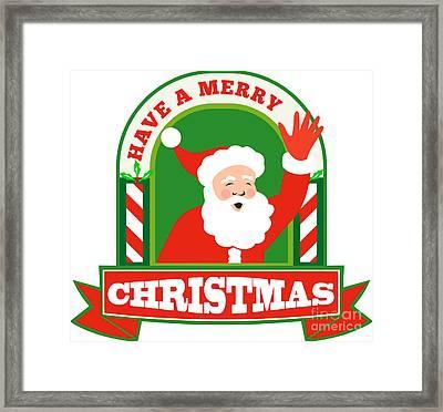 Santa Claus Father Christmas Retro Framed Print by Aloysius Patrimonio