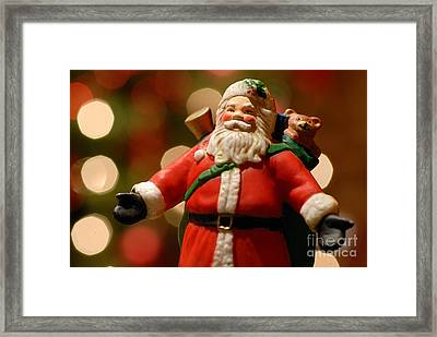 Santa Claus Figure Framed Print by Amy Cicconi