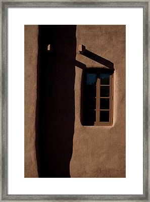 Santa Fe Light And Shadow Framed Print by Elena Nosyreva