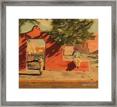 Santa Fe Sidewalk Framed Print